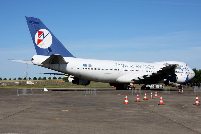 N747SF (SX-FIN) Boeing 747-283BF c/n 21575 Chateauroux/LFLX/CHR 26-08-15