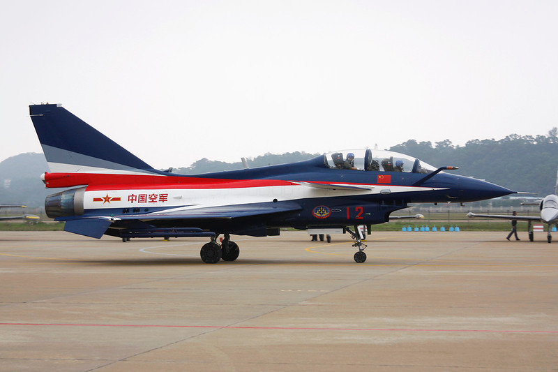 "12 Chengdu J-10SY ""Peoples Liberation Army Air Force"" c/n J10SY0510 Zhuhai/ZGSD/ZUH 16-11-12 ""Ba Yi Display Team"""