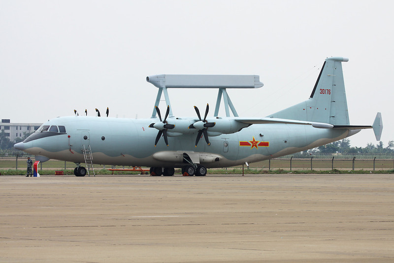 "30176 Shaanxi KJ-200 ""Peoples Liberation Army Air Force"" c/n unknown Zhuhai/ZGSD/ZUH 17-11-12"