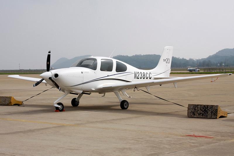 N238CC Cirrus Design SR-20 c/n 2158 Zhuhai/ZGSD/ZUH 16-11-12