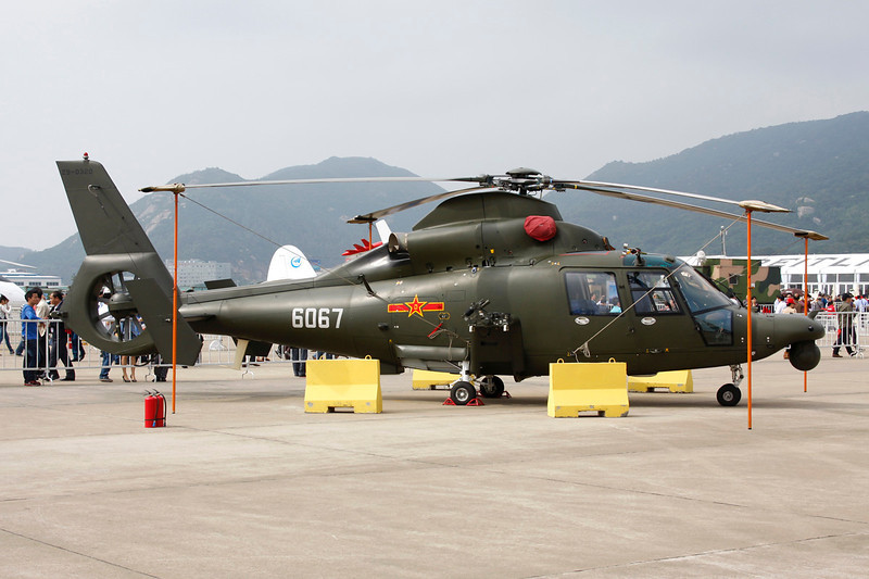 "6067 Harbin Z-9WE ""Peoples Liberation Army Air Corps"" c/n Z9-0320Zhuhai/ZGSD/ZUH 16-11-12"