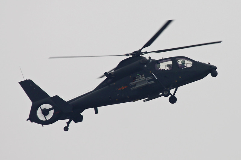 "Unmarked Z19 ""Peoples Liberation Army Air Force"" c/n unknown Zhuhai/ZGSD/ZUH 16-11-12"