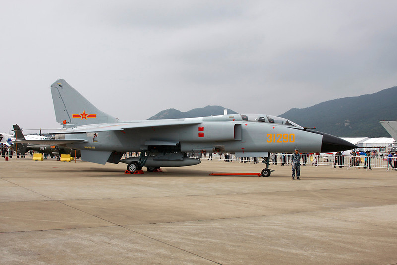 """31290 Xian JH7A Flying Leopard """"Peoples Liberation Army Air Force"""" c/n 76177 Zhuhai/ZGSD/ZUH 16-11-12"""
