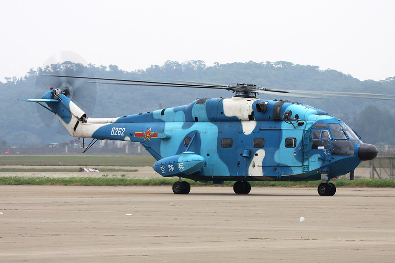 "6262 Changhe Z-8KA ""Peoples Liberation Army Air Force"" c/n Z8KA-06 Zhuhai/ZGSD/ZUH 17-11-12"