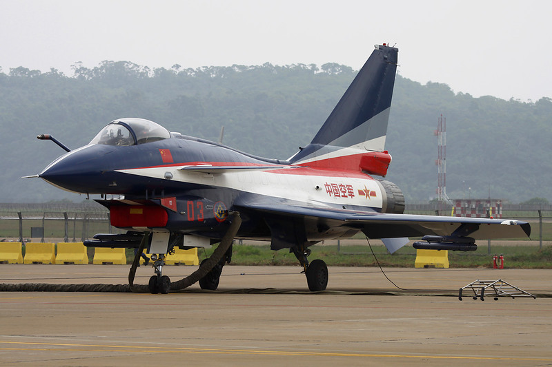"03 Chengdu J-10AY ""Peoples Liberation Army Air Force"" c/n J10AY0510 Zhuhai/ZGSD/ZUH 16-11-12 ""Ba Yi Display Team"""