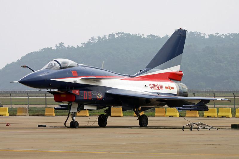 "09 Chengdu J-10AY ""Peoples Liberation Army Air Force"" c/n J10AY0516 Zhuhai/ZGSD/ZUH 16-11-12 ""Ba Yi Display Team"""