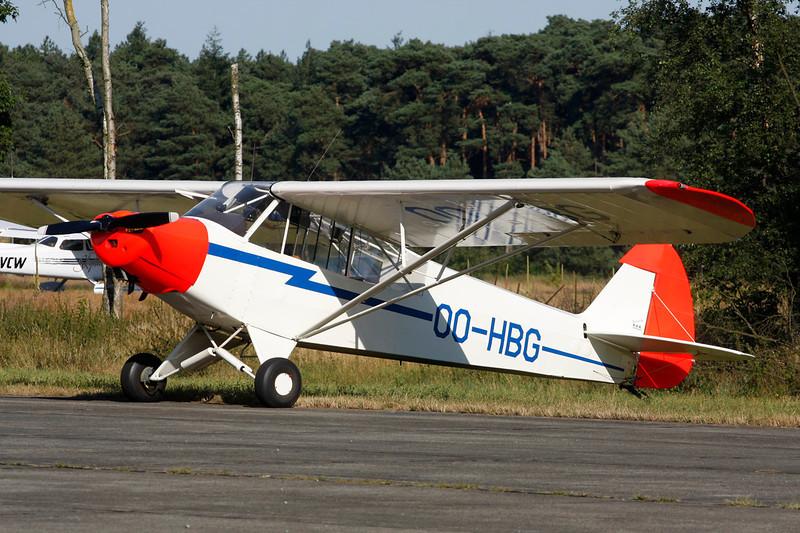 OO-HBG Piper L-18C-95 Super Cub c/n 18-3228 Zoersel/EBZR 18-08-12
