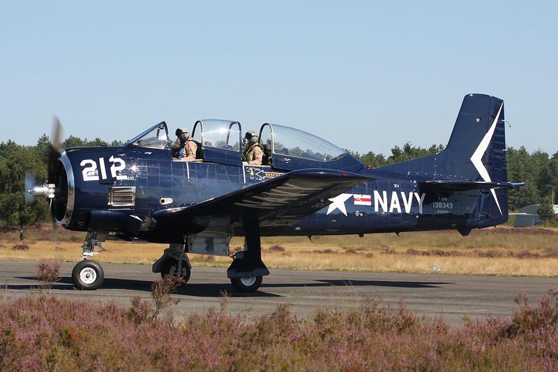 N343NA (138343/MP) North American T-28B Trojan c/n 200-414 Zoersel/EBZR 18-08-12