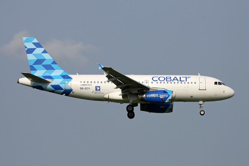 "5B-DCV Airbus A319-132 ""CobaltAir"" c/n 2032 Zurich/LSZH/ZRH 08-09-17"