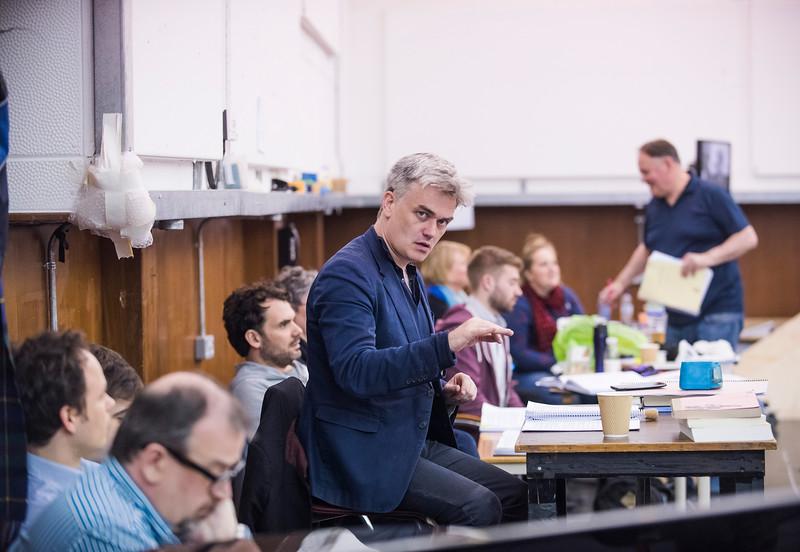 Rehearsals showing Tristan and Isolde by Wagner @ ENO Rehearsal rooms, West Hampstead. Directed by Daniel Kramer. Conductor, Edward Gardner. (Taken 28-04-16) ©Tristram Kenton 04/16 (3 Raveley Street, LONDON NW5 2HX TEL 0207 267 5550  Mob 07973 617 355)email: tristram@tristramkenton.com