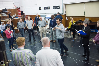 Rehearsals showing Tristan and Isolde by Wagner @ ENO Rehearsal rooms, West Hampstead. Directed by Daniel Kramer. Conductor, Edward Gardner. (Taken 28-04-16) ©Tristram Kenton 04/16 (3 Raveley Street, LONDON NW5 2HX TEL 0207 267 5550  Mob 07973 617 355)email: tristram@tristramkenton.com