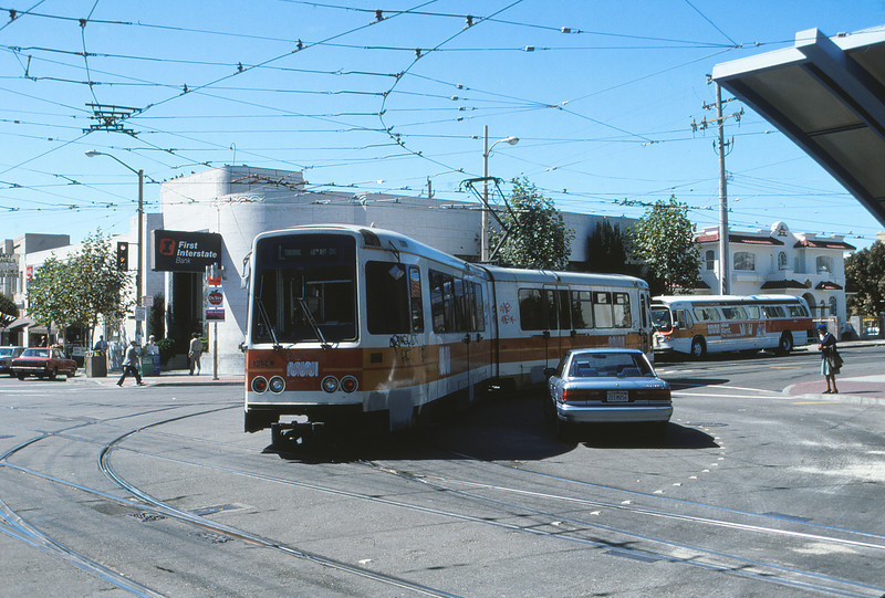 SFMR - Sep 26 1988 - L Car leaving Subway - San Francisco CALI