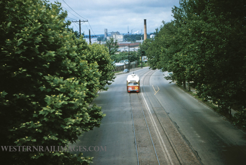 PSCO 162 - Jun 16 1956 - pcc car on Broadway - St Louis MO