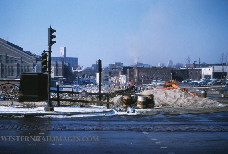 PSCO 59 - Jan 13 1955 - looking west on market at Grande Ave - St Louis MO