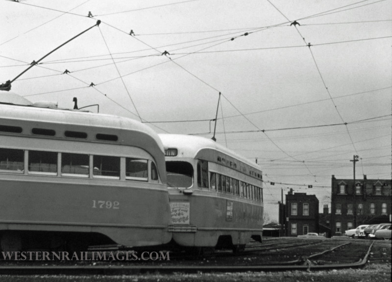 PSCO 219 - Dec 23 1957 - PCC car 1792 in S Broadway yards - St Louis MO