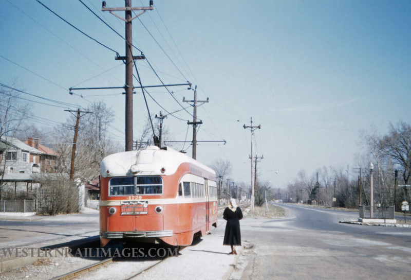 PSCO 193 - Mar 20 1957 - pcc car 1729 EB on Millbrook - St Louis MO