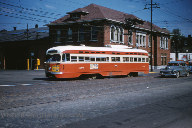 PSCO 13 - Aug 3 1954 - PCC car 1799 at S Broadway - St Louis MO