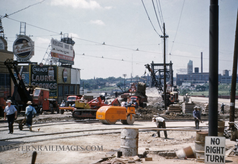 PSCO 121 - Jun 28 1955 - looking south at Grand & Market - St Louis MO