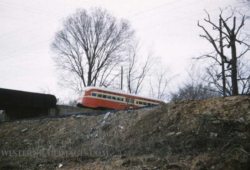 PSCO 200 - Mar 29 1957 - pcc car 1730 Rt 14 EB over Rock Island Bridge - St Louis MO
