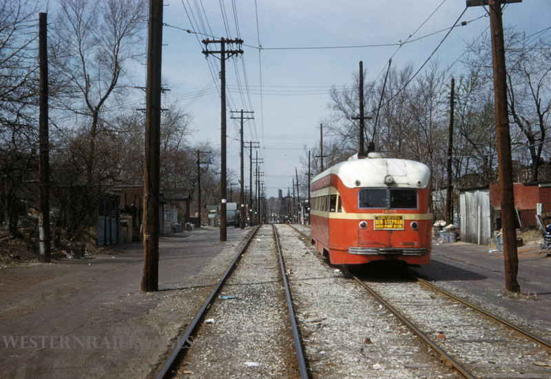 PSCO 242 - Mar 31 1959 - 1655 wb on Hodiamont line near Kingshighway St Louis MO