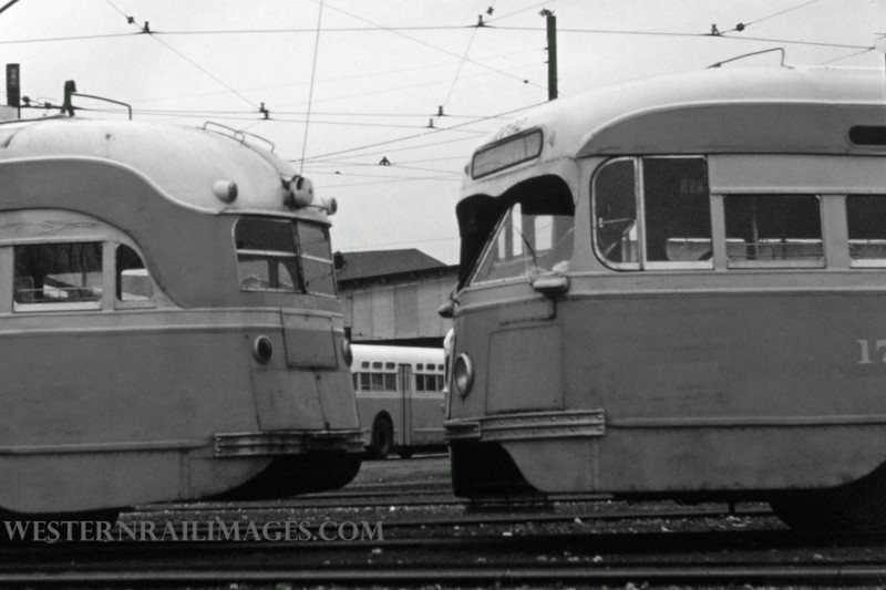 PSCO 221 - Dec 23 1957 - PCC cars at S Broadway St Louis MO