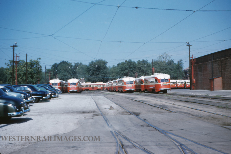 PSCO 2 - Aug 3 1954 - scene at S Broadway Division - St Louis MO