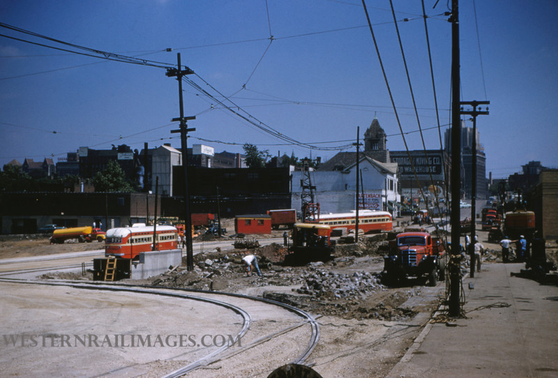 PSCO 126 - Jun 28 1955 - looking N at Grand & Market - St Louis MO