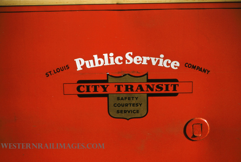 PSCO 63 - Jan 13 1955 - St Louis Public Service Co Emblem on car 1741 - St Louis MO