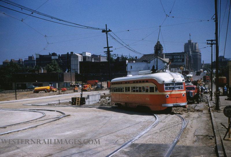 PSCO 125 - Jun 28 1955 - looking north at Grand & Market - St Louis MO