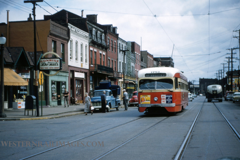 PSCO 164 - Jun 16 1956 - car 1783 on 40 Broadway Line at Broadway & Washington - St Louis MO