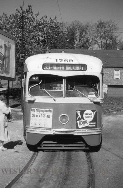 PSCO 99 - Apr 29 1955 - pcc 1769 on 39-N broadwat line  at north end of line - St Louis MO