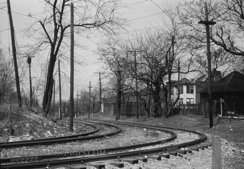 PSCO 244 - Mar 31 1959 - curve leading to private R of W Hodiamont line - St Louis MO