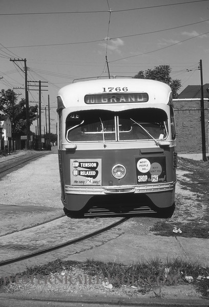 PSCO 1 - Aug 3 1954 - car 1766 at South Grand St Lous MO - by Jim Ozment