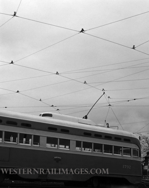 PSCO 220 - Dec 23 1957 - Pcc car 1792 in S broadway yards - St Louis MO