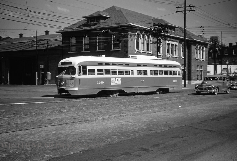 PSCO 3 - Aug 3 1954 - PCC street car no 1700 at South Broadway St Louis MO - by Jim Ozment