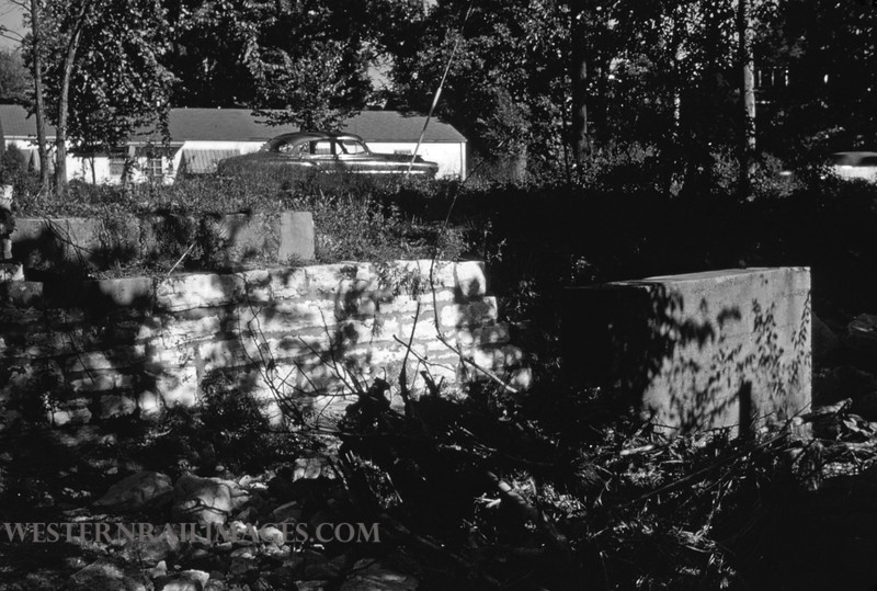 PSCO 168 - Sep 24 1956 - bridge abutment on Brentwood line in Richmond Heights MO
