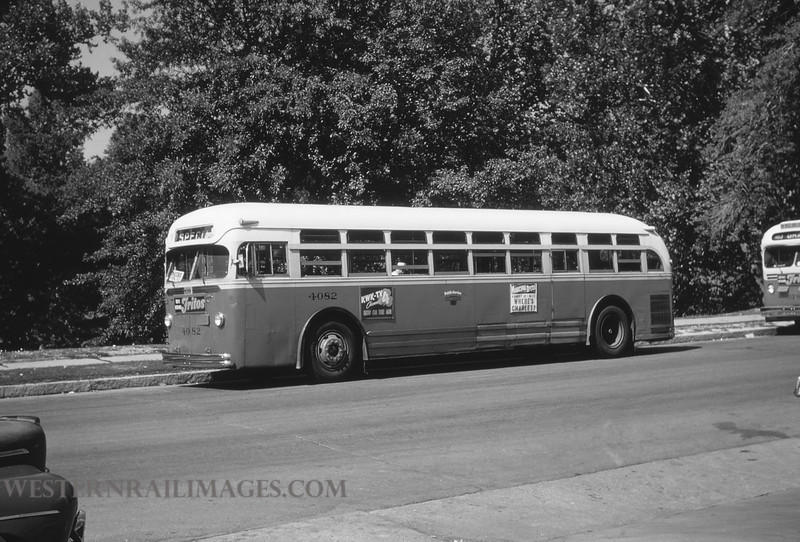 PSCO 5 - Aug 3 1954 - Mack Bus 4082 at Holly Hills & Grand - St Louis MO - by Jim Ozment