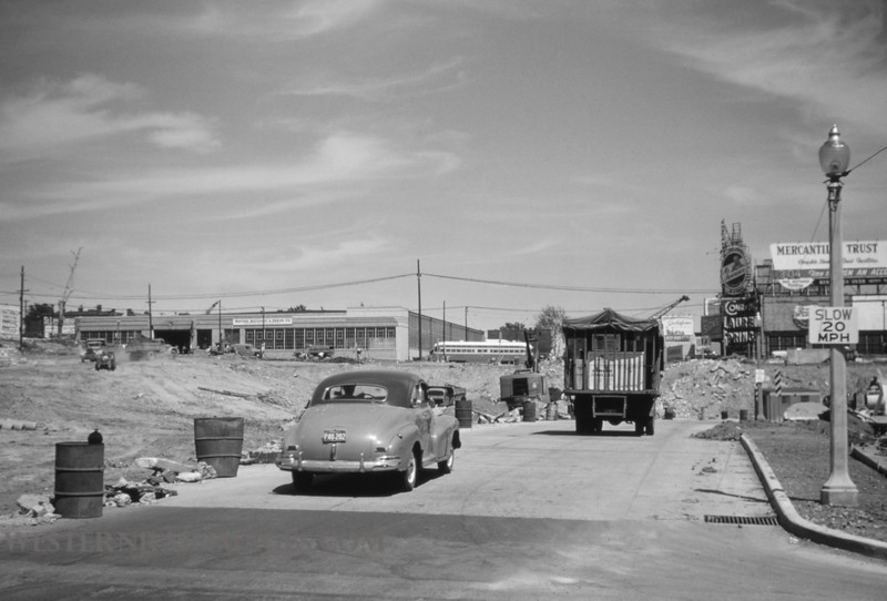 PSCO 107 - May 30 1955 - looking east on Market toward Grand - St Louis MO