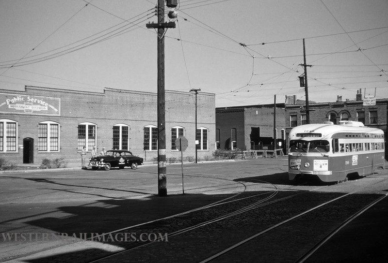 PSCO 13 - Sep 13 1954 - Car no 1749 at Hodiamotn Sheds St Louis MO - by Jim Ozment