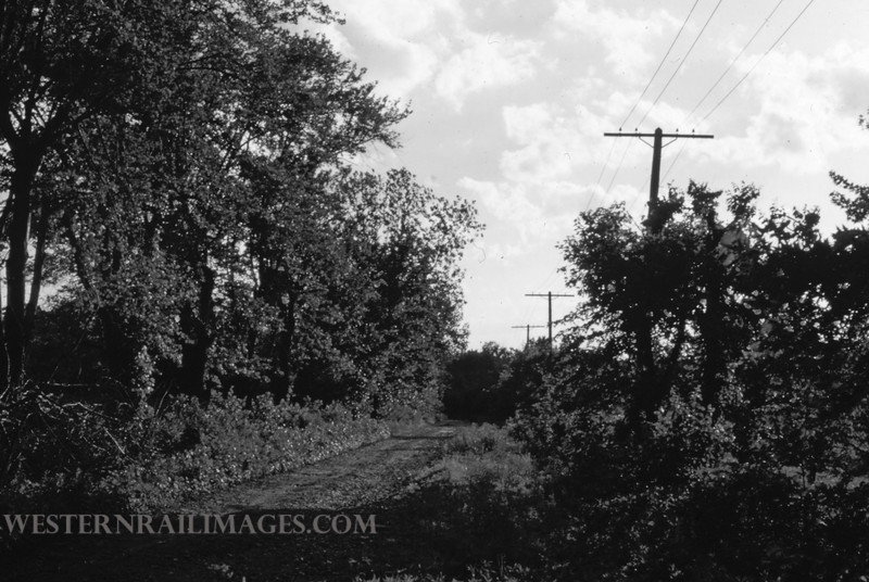 PSCO 213 - May 26 1957 - looking west near Ashby Rd on old Creme Coeur Line - St Louis MO