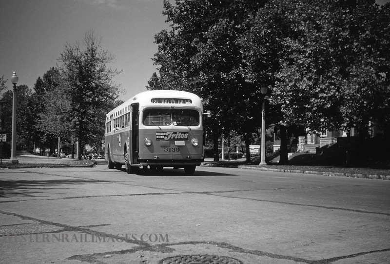 PSCO 8 - Aug 3 1954 - GMC Bus 3139 at Leona & Bowen St Route 121 @ St Louis MO - by Jim Ozment