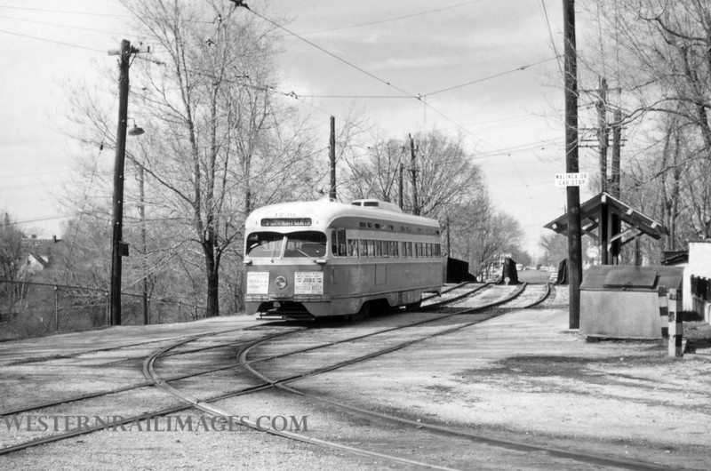 PSCO 196 - Mar 29 1957 - Car 1730 on end of line at Walinea Wye Clayton - St Louis MO