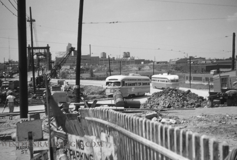 PSCO 124 - Jun 28 1955 - looking S at Grand @ Market - St Louis MO