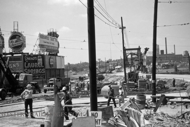 PSCO 122 - Jun 28 1955 - Looking south at Grand & Market - St Louis MO