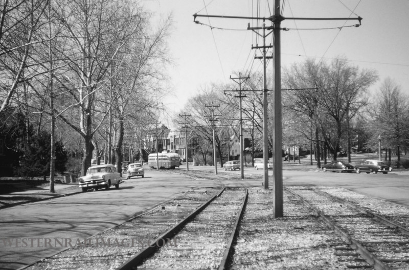 PSCO 192 - Mar 20 1957 - pcc car wb at Flynn Park on Line 14 - St Louis MO