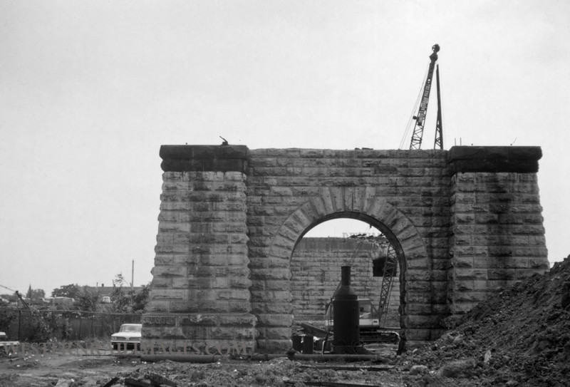 PSCO 258 - Sept 4 1960 - pier of Grand Ave Viaduct during removal - St Louis MO