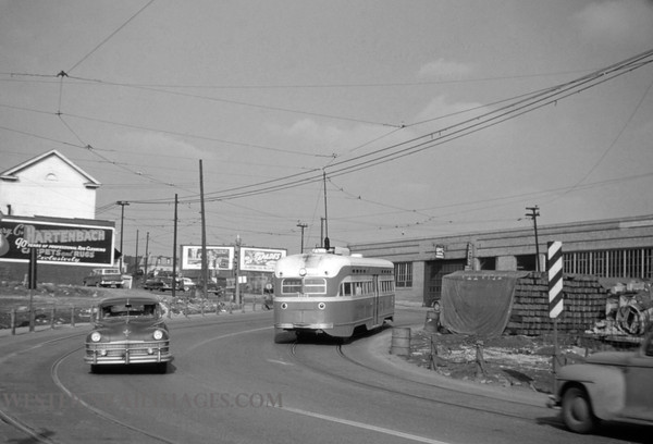 PSCO 144 - Feb 21 1956 - Car 1734 northbound on Grand line at Market St Shoo-fly - St Louis MO