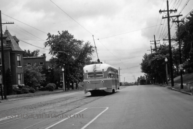 PSCO 163 - Jun 16 1956 - car on Broadway northbound @ Itaska St - St Louis MO