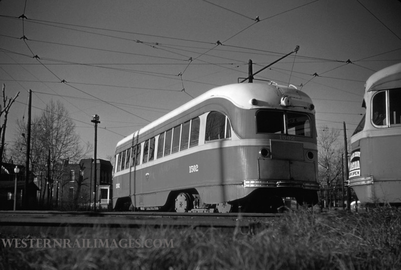 PSCO 71 - Mar 1 1955 - pcc car 1502 at S Broadway - St Louis MO