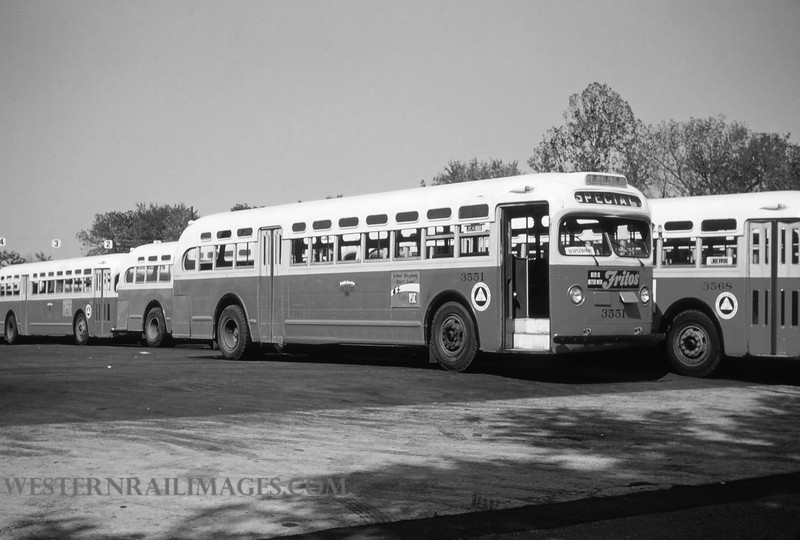 PSCO 10 - Aug 29 1954 - GMC bus no 3551 built 1948 in Lindenwood Yard St Louis MO - by Jim Ozment